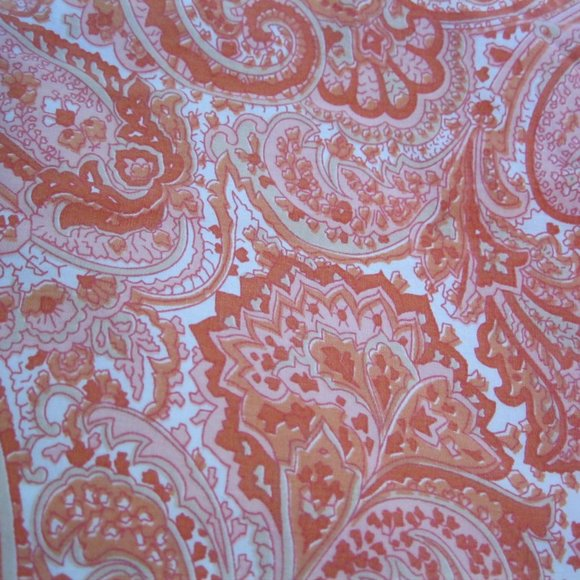 Ralph Lauren Harbor View Orange Paisley Twin Sheet